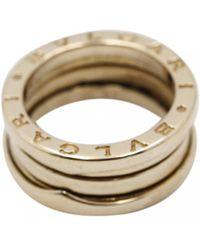 BVLGARI - B.zero1 Yellow Gold Ring - Lyst