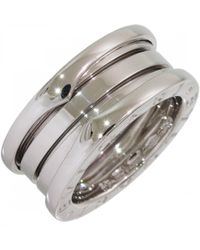 BVLGARI - B.zero1 Silver White Gold Necklace - Lyst