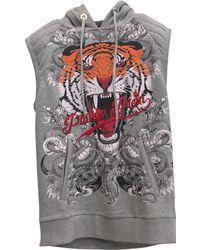Philipp Plein - Pre-owned Grey Cotton Knitwear & Sweatshirt - Lyst