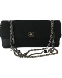 Lyst - Chanel Matelasse Chain Bag in Black 66224a125ff3c