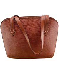 Lyst - Cartable en cuir Louis Vuitton en coloris Rouge 76ee4acb733