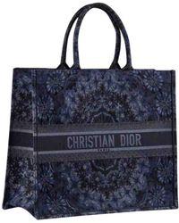 d5e90fecc30 Dior Beige/blue Embroidered Canvas Toile De Jouy Book Tote in ...
