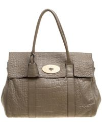 4fcd295a88 Mulberry Pre-owned Bayswater Brown Leather Handbags in Brown - Lyst