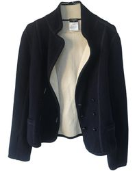 Chanel - Blue Polyester Jacket - Lyst