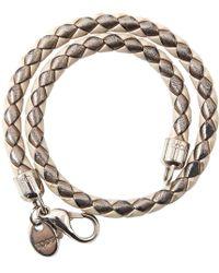 Tod's - Ecru Leather Bracelets - Lyst
