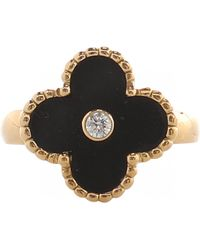 Van Cleef & Arpels - Alhambra Gold Yellow Gold Ring - Lyst