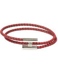 Hermès - Tournis Leather Bracelet - Lyst