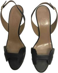 Hermès - Pre-owned Night Leather Sandals - Lyst