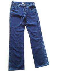Chanel - Blue Cotton Jeans - Lyst