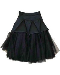 Christopher Kane Black Viscose Skirt