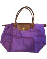 44b2954894013 Longchamp Le Pliage Small Handbag in Purple - Lyst