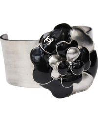 Chanel - Camélia Silver Metal Bracelets - Lyst