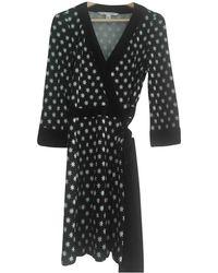 Diane von Furstenberg - Black Silk Dress - Lyst