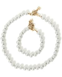 Chanel - Gold Metal Jewellery Sets - Lyst