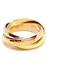 Cartier - Trinity Gold White Gold Ring - Lyst