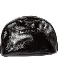 Longchamp - Patent Leather Clutch Bag - Lyst
