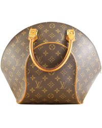 9bf4f342a1c6 Louis Vuitton - Vintage Ellipse Brown Cloth Handbag - Lyst