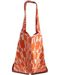Hermès - Pre-owned Orange Silk Handbag Silky Pop - Lyst