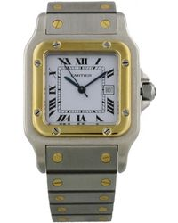 Cartier - Vintage Santos Galbée Other Gold And Steel Watches - Lyst