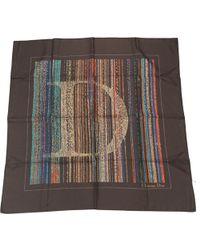Dior - Brown Silk Scarves - Lyst
