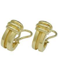 Tiffany & Co. - Atlas Yellow Yellow Gold Earrings - Lyst
