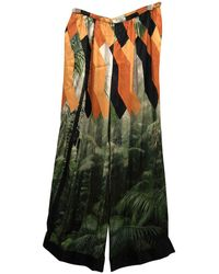 Dries Van Noten - Multicolour Viscose Trousers - Lyst