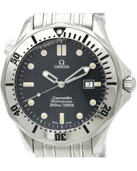 Omega - Seamaster Blue Steel Watches - Lyst