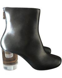 Maison Margiela - Black Leather Ankle Boots - Lyst