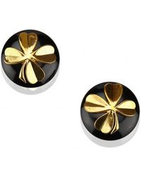 Chanel - Pre-owned Vintage Black Plastic Earrings - Lyst