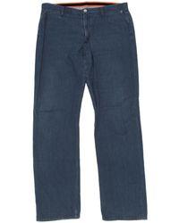Louis Vuitton - Pre-owned Blue Cotton Jeans - Lyst