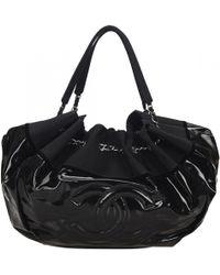 1cca7f875d4e Lyst - Chanel Handbag Quilted Nylon Black 0714 in Black