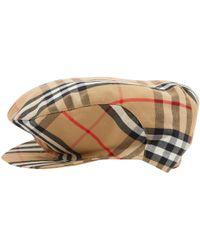 58efa7e6a50 Burberry Printed Pompom Beanie Hat - Lyst