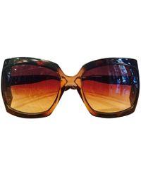 c4c3c4887347 Dior - Pre-owned Brown Metal Sunglasses - Lyst