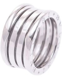 bvlgari preowned white gold ring lyst