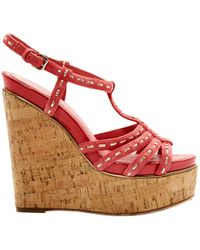 Dior - Pre-owned Pink Suede Sandals - Lyst