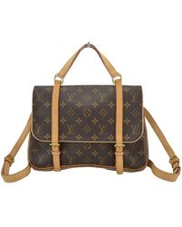 Louis Vuitton - Brown Cloth Backpacks - Lyst
