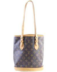 7e77e0ac6945 Lyst - Louis Vuitton Bucket 23 Tote Bag Monogram Canvas M42238 in Brown