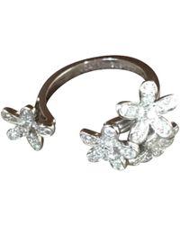 Van Cleef & Arpels - Pre-owned Bagues Entre Les Doigts White Gold Ring - Lyst
