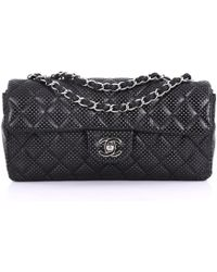 c3ed3e1804bd Chanel - Pre-owned Black Leather Handbags - Lyst