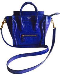 Céline - Celine Nano Luggage Crocodile Bag - Lyst