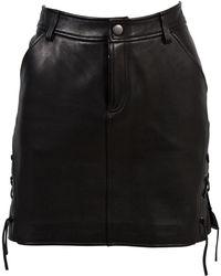 BLK DNM - Mini jupe en cuir - Lyst
