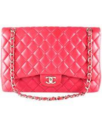 6a32b025f7ef Lyst - Chanel Timeless Leather Handbag in Blue