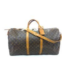 05659fa9672a Lyst - Louis Vuitton Keepall 45 Boston Bag M41428 Monogram Brown in ...