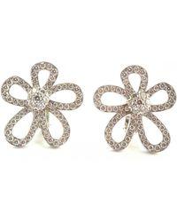 Van Cleef & Arpels - Fleurs White Gold Earrings - Lyst