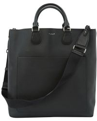 999aaa7893ae Michael Kors Mason East West Reversible Leather Tote in Black for ...