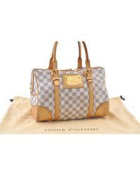 Louis Vuitton - Pre-owned Berkeley White Cloth Handbags - Lyst