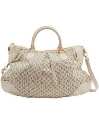 Louis Vuitton - Ecru Cloth Handbag - Lyst