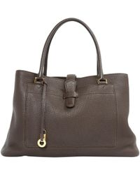 Loro Piana - Leather Hand Bag - Lyst