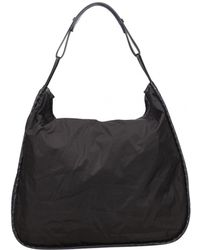 599c21fdfe8c Lyst - Bottega Veneta Pre-owned Grey Leather Handbag in Gray - Save ...