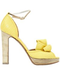 Valentino Yellow Leather